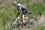 Andy MacDonald (268) uses the foot brake. Mammoth Adventure MTB Ride, Nelson<br /> Photo: Marc Palmano/shuttersport.co.nz