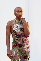 VENICE, ITALY - SEPTEMBER 11: Venezia78 Jury members Cynthia Erivo attends the closing ceremony red carpet during the 78th Venice International Film Festival on September 11, 2021 in Venice, Italy. <br /> CAP/MPI/AF<br /> ©AF/MPI/Capital Pictures