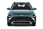 Car photography straight front view of a 2021 Hyundai Bayon Techno 5 Door SUV Front View