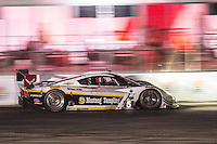 Night action, #5 Corvette DP, João Barbosa, Sébastien Bourdais, Christian Fittipaldi  12 Hours of Sebring, Sebring International Raceway, Sebring, FL, March 2015.  (Photo by Brian Cleary/ www.bcpix.com )