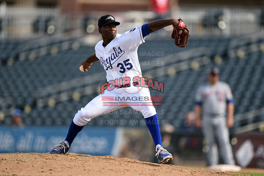 Peoria Javelinas pitcher Ali Williams (35) during an Arizona Fall League game against the Scottsdale Scorpions on October 18, 2014 at Surprise Stadium in Surprise, Arizona.  Peoria defeated Scottsdale 4-3.  (Mike Janes/Four Seam Images)