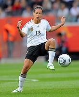 Celia Okoyino da Mbabi of team Germany during the FIFA Women's World Cup at the FIFA Stadium in Frankfurt, Germany on June 30th, 2011.
