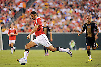Ryan Giggs (11) of Manchester United . Manchester United (EPL) defeated the Philadelphia Union (MLS) 1-0 during an international friendly at Lincoln Financial Field in Philadelphia, PA, on July 21, 2010.