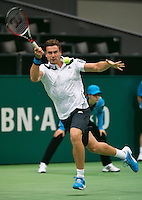 11-02-14, Netherlands,Rotterdam,Ahoy, ABNAMROWTT, Ernests Gulbis(LET)<br /> Photo:Tennisimages/Henk Koster