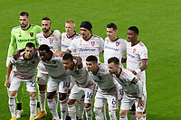 ST PAUL, MN - SEPTEMBER 27: Real Salt Lake starting eleven during a game between Real Salt Lake and Minnesota United FC at Allianz Field on September 27, 2020 in St Paul, Minnesota.