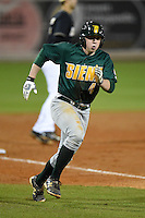 Siena Saints infielder Jordan Bishop (4) running the bases during the opening game of the season against the UCF Knights on February 13, 2015 at Jay Bergman Field in Orlando, Florida.  UCF defeated Siena 4-1.  (Mike Janes/Four Seam Images)