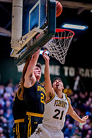 23 January 2019: University of Vermont Catamount Guard Everett Duncan, a Redshirt Junior from Evansville, IN, in first half action against the UMBC Retrievers at Patrick Gymnasium in Burlington, Vermont. The Catamounts fell to the Retrievers 74-61 who handed the Cats their first America East loss of the season. Mandatory Credit: Ed Wolfstein Photo *** RAW (NEF) Image File Available ***