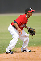 Shortstop Leury Garcia #5 of the Hickory Crawdads on defense versus the West Virginia Power at L.P. Frans Stadium June 21, 2009 in Hickory, North Carolina. (Photo by Brian Westerholt / Four Seam Images)