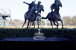 The Smarty Jones trophy with a famous statue of horses running in the background. Jan.21, 2013 - Hot Springs, Arkansas, U.S -   (Credit Image: © Justin Manning/Eclipse/ZUMAPRESS.com)