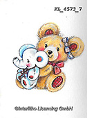 VALENTINE, VALENTIN, paintings+++++,KL4573/7,#v#, EVERYDAY ,sticker,stickers ,bear,bears