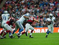 26.10.2014.  London, England.  NFL International Series. Atlanta Falcons versus Detroit Lions. Lions' RB Joique Bell [35] in action.
