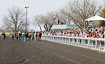 April 13, 2014: Horses going back to the barn after the 6th race at Keeneland Racecourse.  Candice Chavez/ESW/CSM