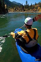 Whitewater kayaking on Snake River, Jackson WY.