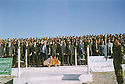 Iraq 2003? <br /> Ceremony at the Military Academy of Kala Tchwalan, in the middle, next to a Kurdish officer, Mullazem Omar Abdallah  <br /> Irak 2003?<br />  Ceremonie a l'academie militaire de Kala Tchwalan, au milieu a cote d'un officier kurde, Mullazem Omar Abdallah saluant la nouvelle promotion d'officiers kurdes