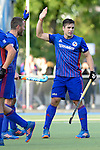 GER - Mannheim, Germany, October 09: During the men hockey match between Mannheimer HC (blue) and TSV Mannheim (red) on October 9, 2016 at Mannheimer HC in Mannheim, Germany. Final score 4-3 (HT 1-1). (Photo by Dirk Markgraf / www.265-images.com) *** Local caption *** Gonzalo Peillat #2 of Mannheimer HC