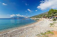 The beach Megalos Mourtias of Alonissos island, Greece