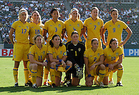 Sweden team, Germany 2-1 over Sweden at the  WWC 2003 Championships.