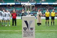 The trophy is displayed before the 131st Varsity Match between Oxford University and Cambridge University at Twickenham on Thursday 06 December 2012 (Photo by Rob Munro)