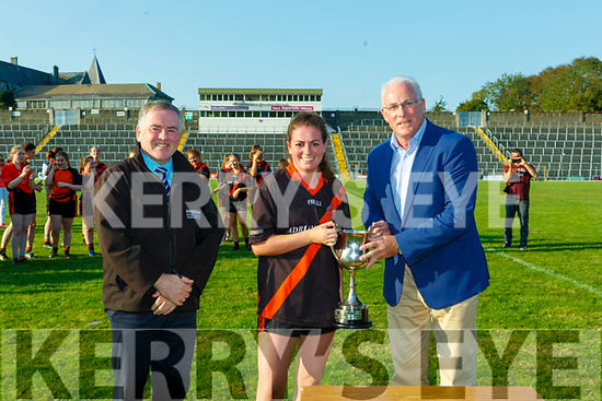 The Dr Crokes team celebrate winning the Junior final against MLK Gaels in Fitzgerald Stadium on Sunday