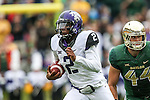 TCU Horned Frogs quarterback Trevone Boykin (2)in action during the game between the TCU Horned Frogs and the Baylor Bears at the McLane Stadium in Waco, Texas. TCU leads Baylor 31 to 27 at halftime.