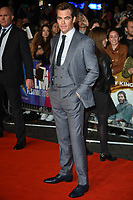 """Chris Pine<br /> arriving for the London Film Festival screening of """"Outlaw King"""" at the Cineworld Leicester Square, London<br /> <br /> ©Ash Knotek  D3446  17/10/2018"""