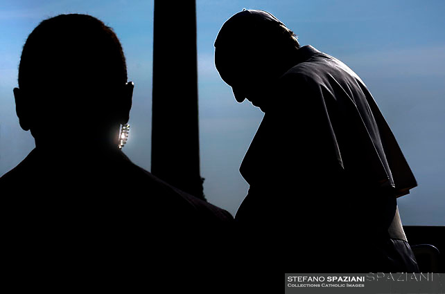 Pope Francis during of a weekly general audience at St Peter's square in Vatican. April 5, 2017