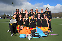 The Thames Valley team poses for a group photo after the National Women's Association Under-18 Hockey Tournament 11th place playoff match between Thames Valley and Bay of Plenty at Twin Turfs in Clareville, New Zealand on Saturday, 15 July 2017. Photo: Dave Lintott / lintottphoto.co.nz