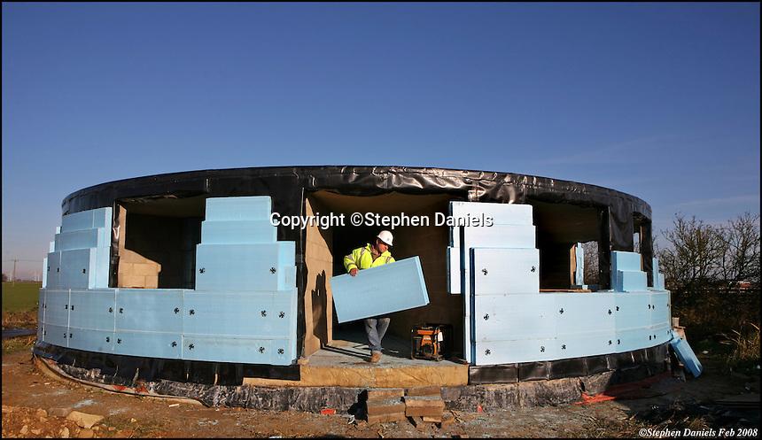 Photo by ©Stephen Daniels <br /> Dow insulation blocks.