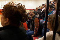 Inner Circle members John Dunkel sits in the stands during a game between Punxsutawney High School and local rival Dubois High School Beavers, on Friday, January 24, 2014. Dunkel has four daughters who attended Puxsutawney High School but have since graduated. (needs quotes)