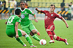 GUANGZHOU, GUANGDONG - JULY 26:  Xherdan Shaqiri (R) of Bayern Munich in action during a friendly match against VfL Wolfsburg as part of the Audi Football Summit 2012 on July 26, 2012 at the Guangdong Olympic Sports Center in Guangzhou, China. Photo by Victor Fraile / The Power of Sport Images