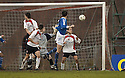 15/01/2006         Copyright Pic: James Stewart.File Name : sct_jspa19_clyde_v_stjohnstone.KEVIN JAMES HEADS HOME ST JOHNSTONE'S THIRD.....Payments to :.James Stewart Photo Agency 19 Carronlea Drive, Falkirk. FK2 8DN      Vat Reg No. 607 6932 25.Office     : +44 (0)1324 570906     .Mobile   : +44 (0)7721 416997.Fax         : +44 (0)1324 570906.E-mail  :  jim@jspa.co.uk.If you require further information then contact Jim Stewart on any of the numbers above.........