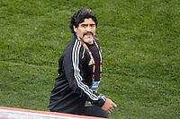 Diego Maradona coach of Argentina before the game against Nigeria.