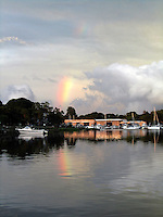 Reflections of a Rainbow Over Wickford Shipyard