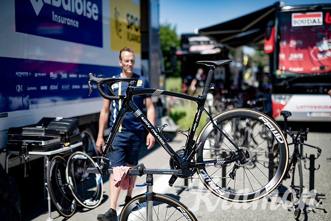 warming up for the iTT<br /> <br /> 91st Baloise Belgium Tour 2021 (BEL/2.Pro)<br /> Stage 2 (ITT) from Knokke-Heist to Knokke-Heist (11.2km)<br /> <br /> ©kramon
