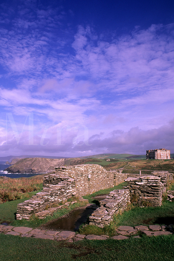 King Arthur's home Tintagel Castle in Cornwall England