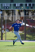 Eric Adler during the WWBA World Championship at the Roger Dean Complex on October 19, 2018 in Jupiter, Florida.  Eric Adler is a right handed pitcher from Melbourne, Florida who attends Rockledge Senior High School and is committed to Wake Forest.  (Mike Janes/Four Seam Images)