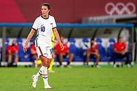 TOKYO, JAPAN - JULY 21: Carli Lloyd #10 of the United States during a game between Sweden and USWNT at Tokyo Stadium on July 21, 2021 in Tokyo, Japan.