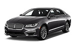 2020 Lincoln MKZ Standard 4 Door Sedan Angular Front automotive stock photos of front three quarter view