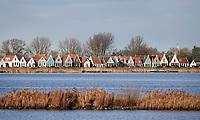 Nederland  Amsterdam - 09-01- 2021.    Lintdorp Durgerdam. Er zijn plannen voor grote wndmolens in het water tussen Durgerdam en IJburg.   Foto : ANP/ HH / Berlinda van Dam