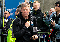 Matt Ritchie of Newcastle United arriving ahead of the Premier League match between Brighton and Hove Albion and Newcastle United at the AMEX Stadium, Brighton and Hove, England on 27 April 2019. Photo by Liam McAvoy.