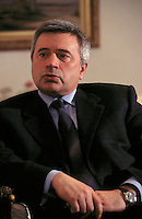 Moscow, Russia, 07/04/00..Lukoil President Vagit Alekperov in his headquarters office.