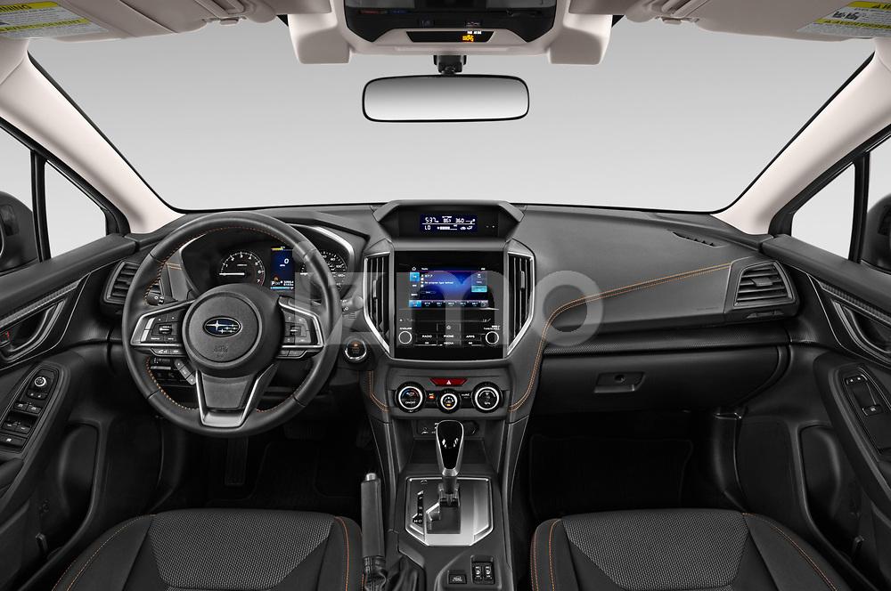 Stock photo of straight dashboard view of 2020 Subaru Crosstrek Premium 5 Door SUV Dashboard