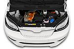 Car stock 2020 Skoda Citigo e iV Ambition 5 Door Hatchback engine high angle detail view