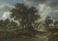 Full title: A Woody Landscape<br /> Artist: Meindert Hobbema<br /> Date made: about 1665