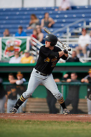 West Virginia Black Bears designated hitter Luke Mangieri (39) at bat during a game against the Batavia Muckdogs on June 19, 2018 at Dwyer Stadium in Batavia, New York.  West Virginia defeated Batavia 7-6.  (Mike Janes/Four Seam Images)