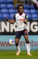 Bolton Wanderers' Peter Kioso vents his frustration<br /> <br /> Photographer Andrew Kearns/CameraSport<br /> <br /> The EFL Sky Bet League Two - Bolton Wanderers v Mansfield Town - Tuesday 3rd November 2020 - University of Bolton Stadium - Bolton<br /> <br /> World Copyright © 2020 CameraSport. All rights reserved. 43 Linden Ave. Countesthorpe. Leicester. England. LE8 5PG - Tel: +44 (0) 116 277 4147 - admin@camerasport.com - www.camerasport.com
