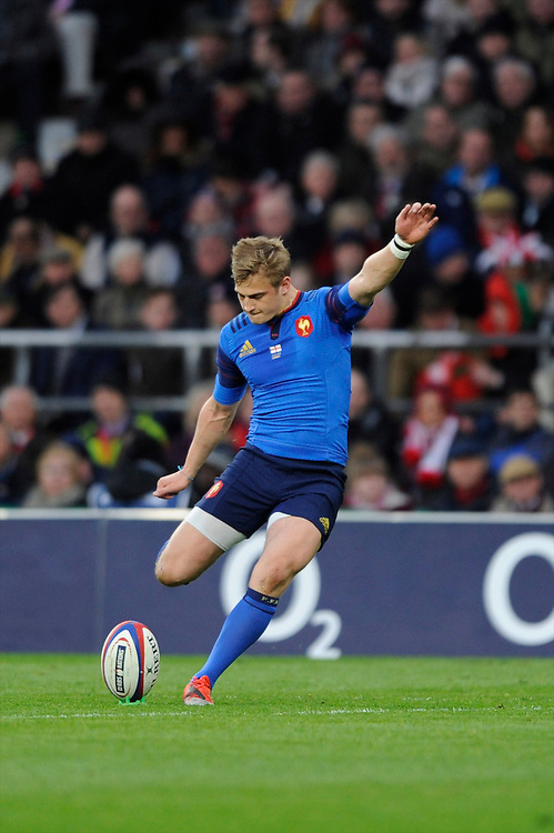 Jules Plisson of France takes a conversion attempt