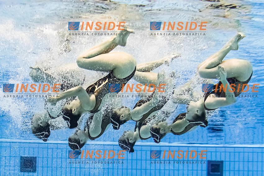 Team Poland<br /> Artistic swimming team free <br /> Duna Arena, Budapest 14/05/2021 <br /> Budapest/Hungary<br /> Photo © A. Kovacs/Deepbluemedia/Insidefoto