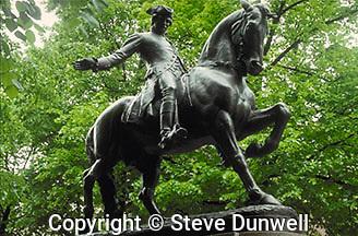 Paul Revere statue, North End, Boston, MA (Cyrus Dallin, sculptor)