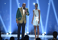 ATLANTA, GA - DECEMBER 8: 2019 MISS UNIVERSE: Host Steve Harvey and Miss South Africa, Zozibini Tunzi appear on the 2019 MISS UNIVERSE competition airing LIVE onSunday, Dec. 8(7:00-10:00 PM ET live/PT tape-delayed) on FOX. (Photo by Frank Micelotta/FOX/PictureGroup)